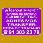 Camisetas, pegatinas,Transfer Serigrafico,Serigrafia Madrid,Serigrafia en Vallecas,Serigrafia en Madrid,Carteles Vallecas www.serigrafia-akros.es